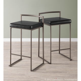 Link to Carbon Loft Yadriel Industrial Antique Stackable Counter Stool (Set of 2) Similar Items in Dining Room & Bar Furniture
