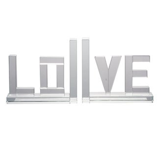 Set of 2, Love Bookends, 6x2x5 inches