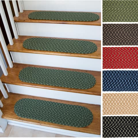 Mission Hill Oval Braided Stair Treads