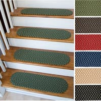 "Mission Hill Oval Braided Stair Treads - 8 Inch x 28 Inch - 8"" x 28"""