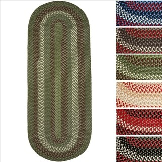 Mission Hill (2' x 6') Multicolored Reversible Braided Runner - 2' x 6'