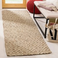 Safavieh Hand-Woven Natural Fiber Contemporary Ivory / Natural Sisal Rug - 2'6 x 8'