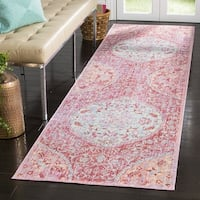 Safavieh Windsor Bohemian Rose / Seafoam Cotton Rug - 3' x 8'
