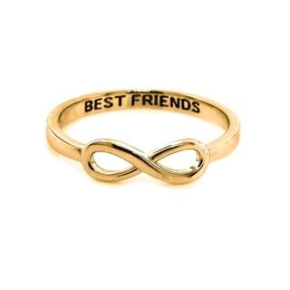 Eternally Haute 14k Gold Plated Sterling Silver Best Friends Infinity Ring