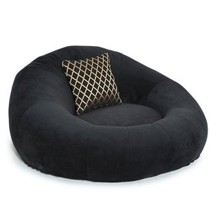 Seatcraft Bella Fabric Cuddle Seat Home Theater Foam Bean Bag Chair