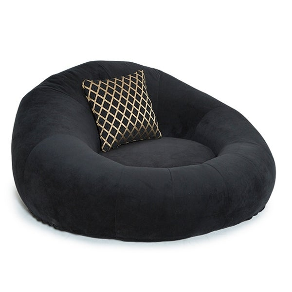Charmant Seatcraft Bella Fabric Cuddle Seat Home Theater Foam Bean Bag Chair