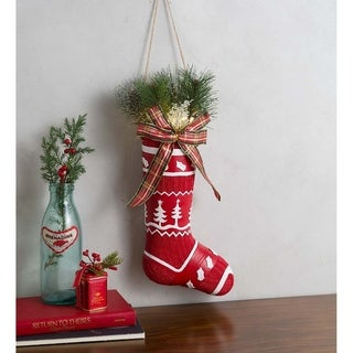 Lighted Vintage Stocking Decor with Tree