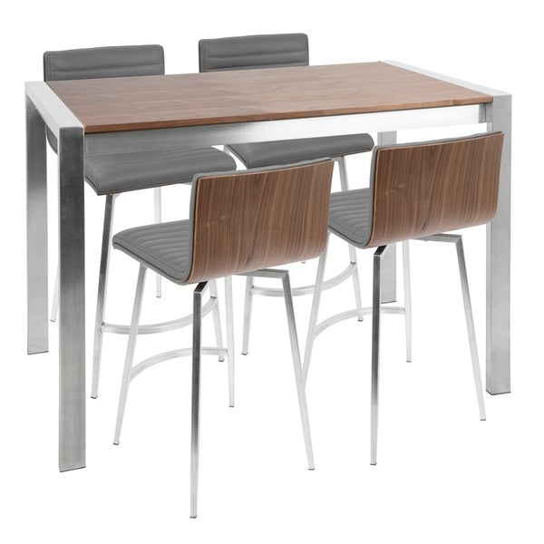 Mason 5 Piece Contemporary Counter Height Dining Set