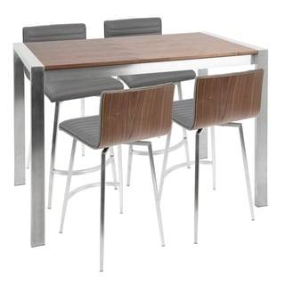 Mason 5-Piece Contemporary Counter Height Dining Set