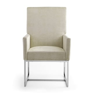 Element Dining Armchair (Champagne - Arm Chairs - Upholstered/Metal)