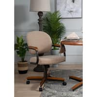 Casual Dining Cushion Swivel and Tilt Rolling Kitchen Chair