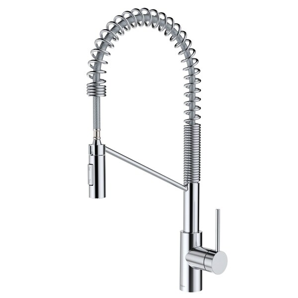 KRAUS Oletto™ Single Handle Pull Down Commercial Kitchen Faucet with QuickDock