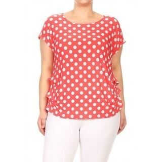 Women's Plus Size Polka Dot Tunic