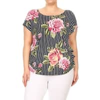 Women's Plus Size Pattern Print Tunic Top
