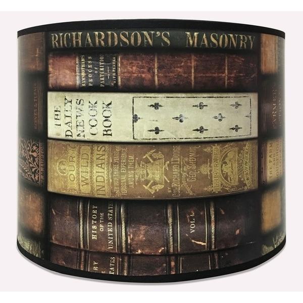Royal Designs Modern Trendy Decorative Handmade Lamp Shade - Made in USA - Vintage Books Design - 10 x 10 x 8