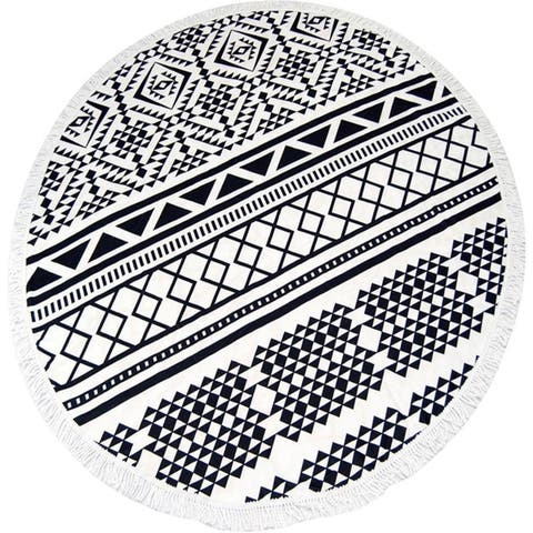 Couture Home Collection Thick Round Yoga Mat Mandala Beach Towel