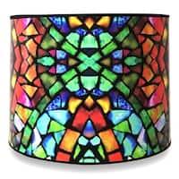 Royal Designs Modern Trendy Decorative Handmade Lamp Shade - - Mosaic Stained Glass Design - 10 x 10 x 8
