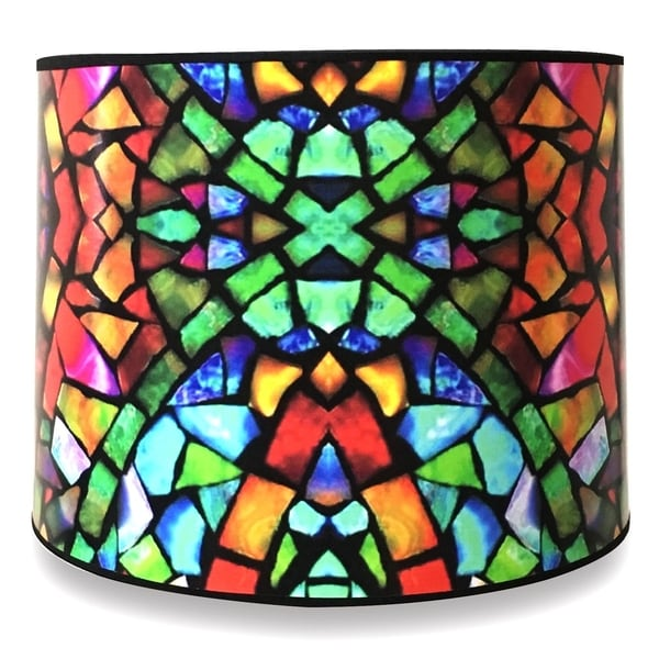 Royal Designs Modern Trendy Decorative Handmade Lamp Shade - - Mosaic Stained Glass Design - 10 x 10 x 8
