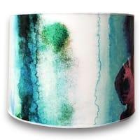 Royal Designs Modern Trendy Decorative Handmade Lamp Shade - - Water Color Painting Design - 10 x 10 x 8