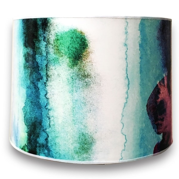 Royal Designs Modern Trendy Decorative Handmade Lamp Shade - - Water Color Painting Design - 10 x 10 x 8