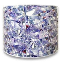 Royal Designs Modern Trendy Decorative Handmade Lamp Shade - - Broken Glass Design - 10 x 10 x 8