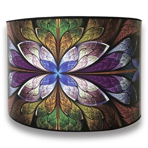 Royal Designs Modern Trendy Decorative Handmade Lamp Shade - - Purple Flower Design -10 x 10 x 8