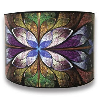 Buy royal designs table lamps online at overstock our best royal designs modern trendy decorative handmade lamp shade purple flower design 10 x aloadofball Images