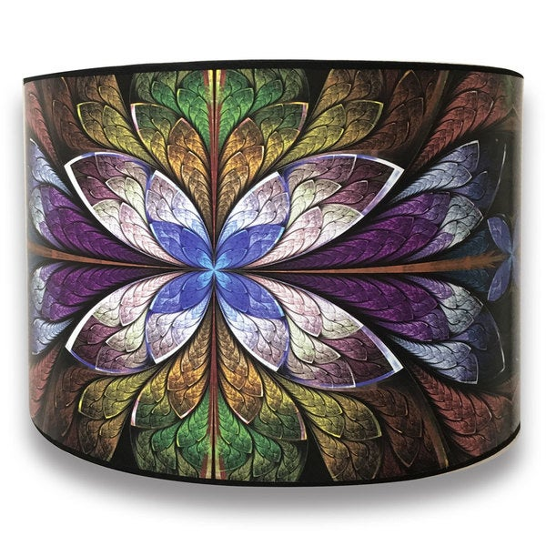 Royal Designs Modern Trendy Decorative Handmade Lamp Shade - - Purple Flower Design -10 x 10 x 8