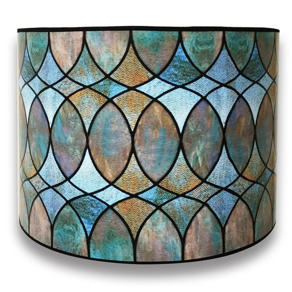 Royal Designs Modern Trendy Decorative Handmade Lamp Shade Made In Usa Cool Hues Watercolor