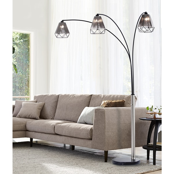 Polygon Three Light Arc Lamp