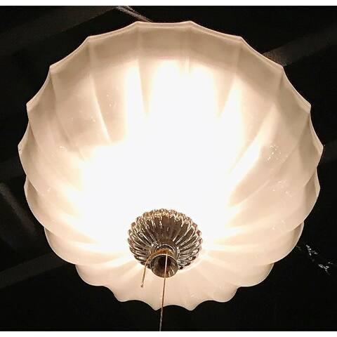 "Metro 4 Light Crystal Bowl Flush Mount Ceiling Light 14"" Medium"