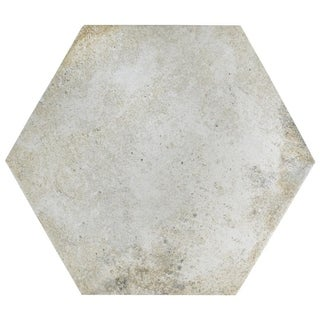 SomerTile 14.125x16.25-inch Tremont Ferro Hex Bianco Porcelain Floor and Wall Tile (9 tiles/11.05 sqft.)