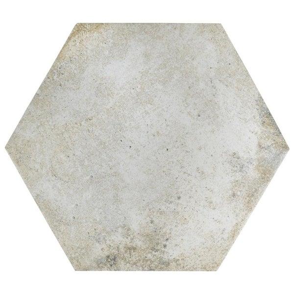 Bianco Porcelain Tile: Shop SomerTile 14.125x16.25-inch Tremont Ferro Hex Bianco
