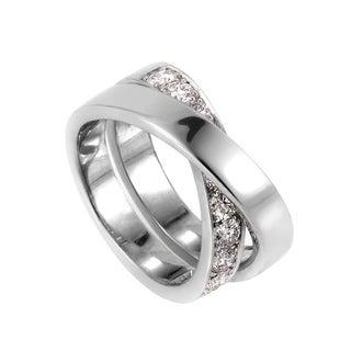 Cartier Paris Nouvelle Vague White Gold Diamond Band Ring
