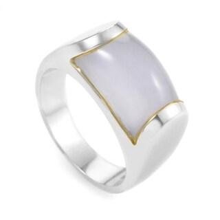 Bvlgari Tronchetto White Gold Chalcedony Ring