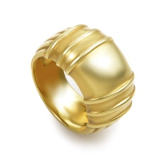 Judith Ripka Women's Carved Yellow Gold Band Ring