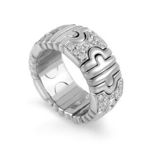 Bvlgari Parentesi White Gold Diamond Band Ring