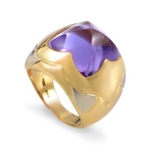 Bvlgari Piramide Women's Multi-Tone Gold Amethyst Ring