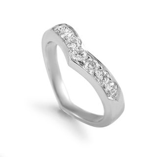 Pre-owned Tiffany & Co. Platinum & Diamond Band Ring AK1B248