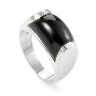 Bvlgari Tronchetto Women's White Gold Onyx Ring