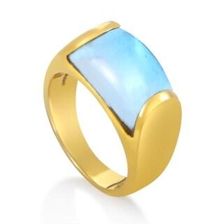 Bvlgari Tronchetto Yellow Gold Blue Topaz Ring