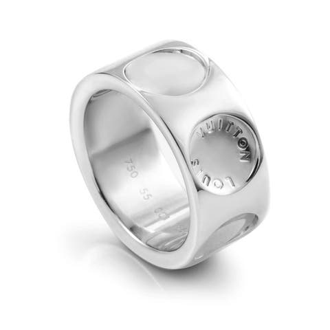 Louis Vuitton Empreinte Large Model White Gold Band Ring