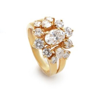 Chaumet Yellow Gold Diamond Cluster Ring