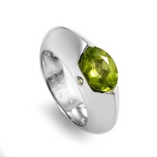 Piaget White Gold Peridot Diamond Ring