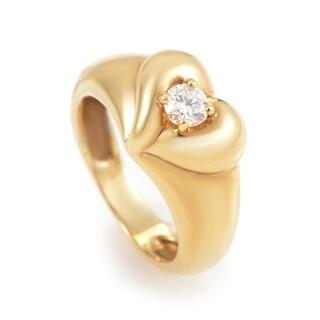 Van Cleef & Arpels Womens Yellow Gold Diamond Heart Ring