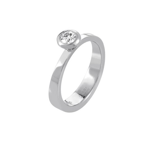 Gucci White Gold .33ct Diamond Solitaire Engagement Ring