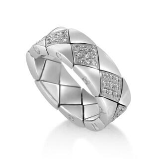 Chanel Matelasse White Gold Diamond Band Ring