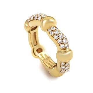 Boucheron Yellow Gold Diamond Band Ring 26350413
