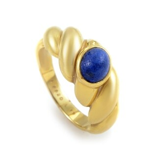 Van Cleef & Arpels Yellow Gold Lapis Band Ring