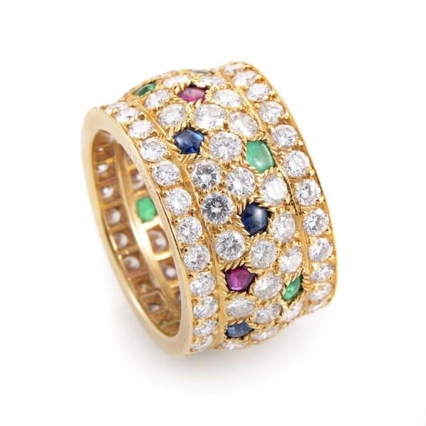 672af09373659 Shop Cartier Nigeria Women's Yellow Gold Multi-Stone Diamond Ring ...